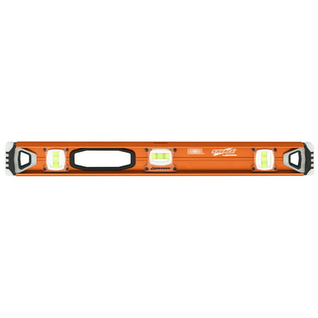 Swanson SAVAGE SVI240 24-Inch Contractor Series I-Beam Level with Gelshock End