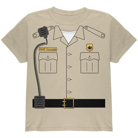 Halloween Forest Park Ranger Costume Youth T Shirt - Halloween Park Pranks