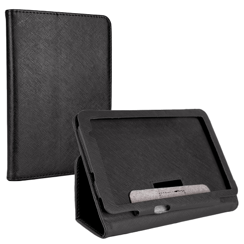 "Digital2 ACC700A 7"" Tablet Leatherette Protective Magnetic Folio Case-Black"