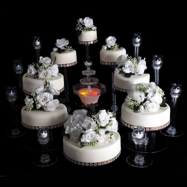 "BalsaCircle Clear 16"" Cupcake Cake Stand - Wedding Party Decorations Dessert Display Pedestal Riser"