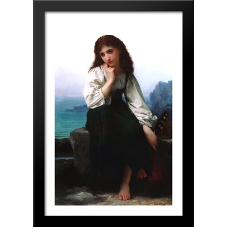 Garde 28x40 Large Black Wood Framed Print Art by Elizabeth Jane Gardner Bouguereau