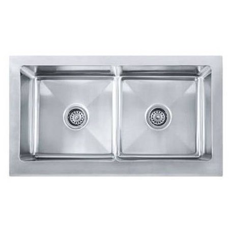 Franke MHX720-36 Manor House Drop In/Farmhouse Kitchen Sink, Stainless ...