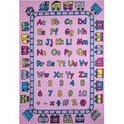 Abc Fun In Pink 3 X 5 Children Area Rug For Playroom Nursery