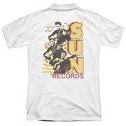 Sun Tri Elvis (Back Print) Mens Polo Shirt