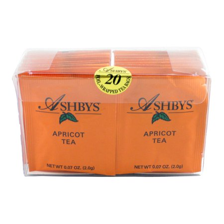 Ashbys Apricot Tea Bags, 20 Count Box