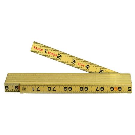 Folding Ruler - Klein Tools 910-6 Fiberglass Folding Rules Inside Reading