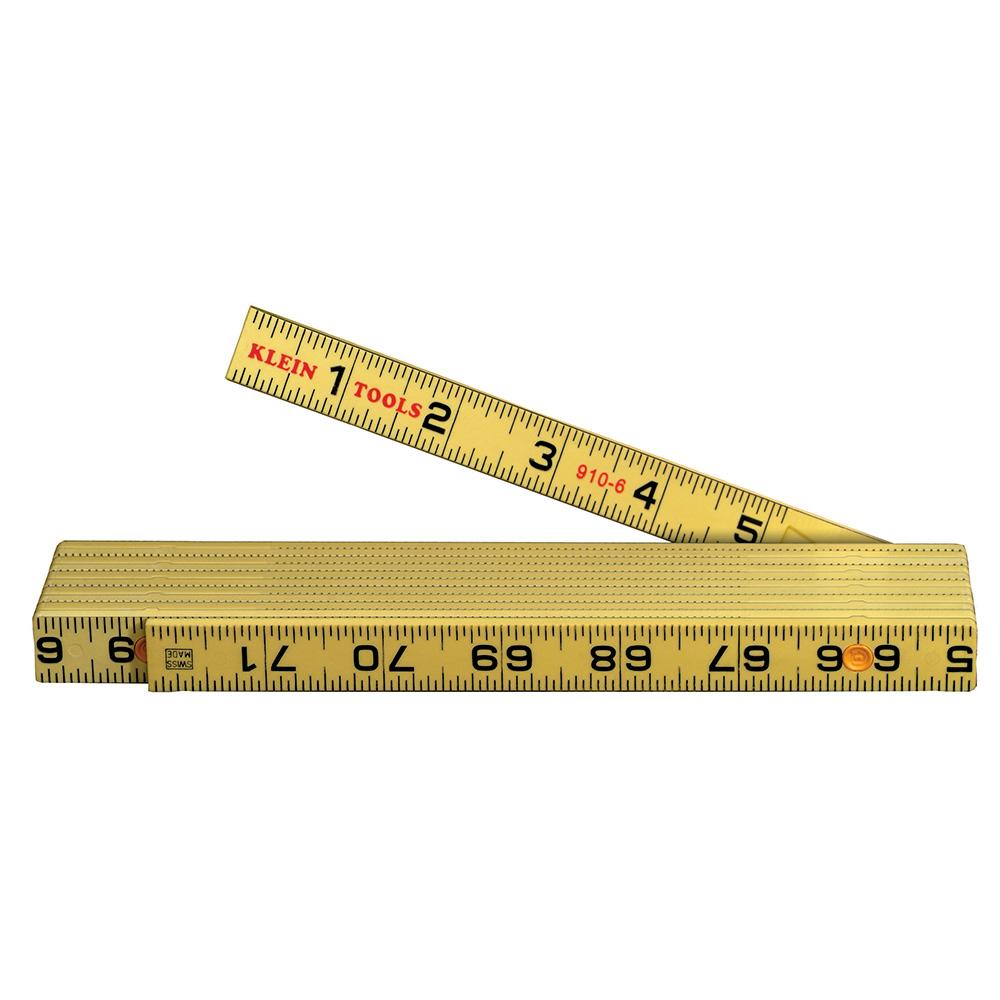 Klein Tools 910-6 Fiberglass Folding Rules Inside Reading