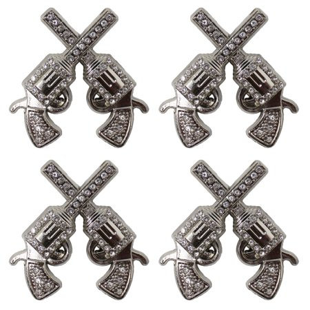 Lot of 4 Conchos Rhinestone Horse Saddle Western Silver Bling Tack Bridle CO201 ()