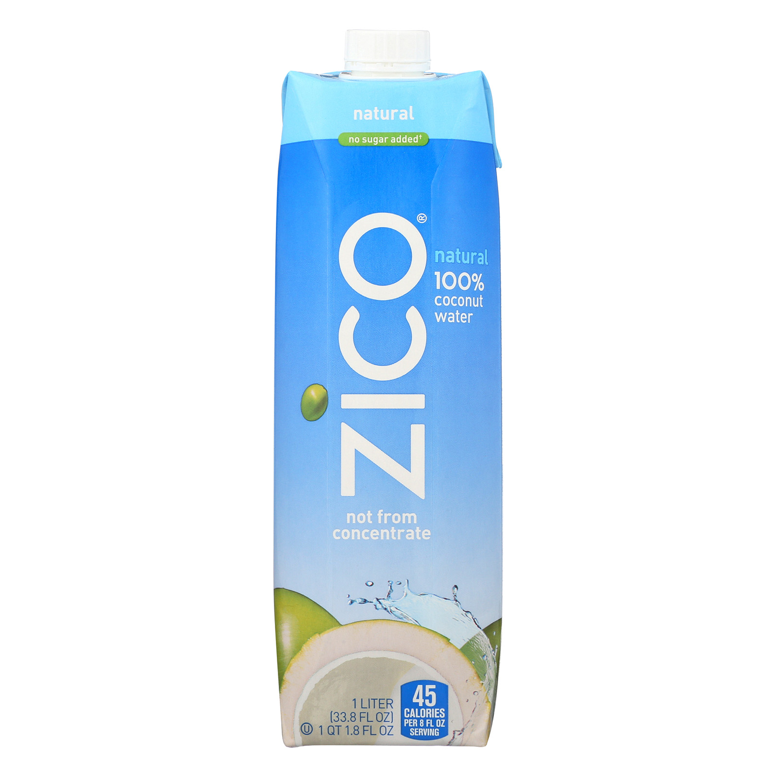 Zico Coconut Water Coconut Water - Natural - Pack of 12 -...