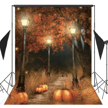 HelloDecor Polyster 5x7ft Halloween Pumpkin Horror Nights Costume Party Masquerade Series Photo Backdrops Studio Background Studio Props - Masquerade Backdrop