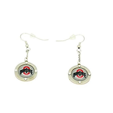 - Ohio State Team Circle Crystal Earrings