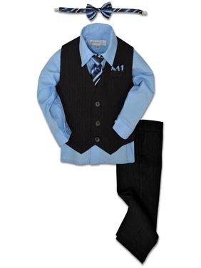 Johnnie Lene Boys Formal Pinstripe Dresswear Vest Set JL40