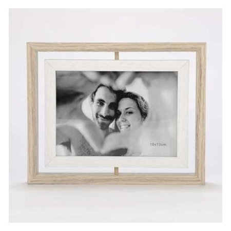 Union Rustic Northampton Double Sided Swivel Natural Picture Frame