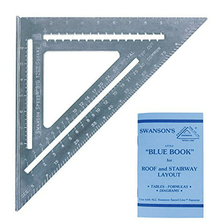 Swanson Tool - Swanson T0108 Big 12 Speed Square Layout Tool with Blue Book, Heavy gauge aluminum with matte finish to prevent glare By Swanson Tool