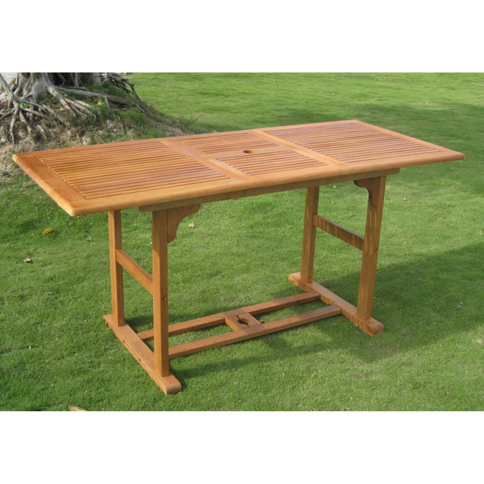 International Caravan Royal Tahiti Balau Extendable Outdoor Patio Dining Table