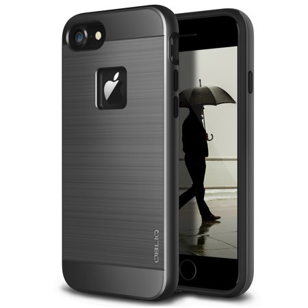 Grape Case (iPhone 7 Case, OBLIQ [Slim Meta][Black Titanium][MILITARY GRADE CERTIFIED] Premium Metallic Soft Brushed Protection Cover for Apple iPhone 7 (2016) )