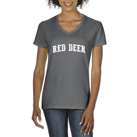Canada T-Shirt Red Deer Alberta  Artix Womens Shirts - Walmart Red Deer Alberta
