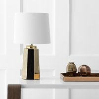Safavieh Parlon Solid Glam 17.25 in. H Table Lamp, Plated Gold