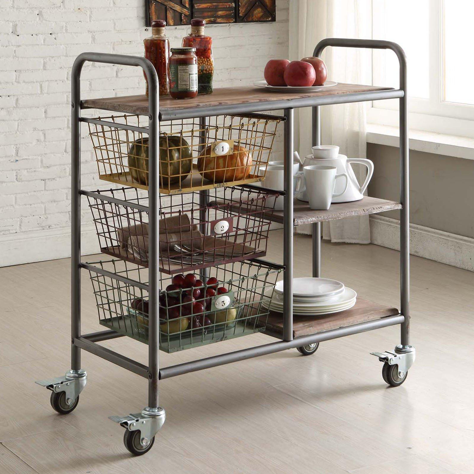 4D Concepts Urban Collection Kitchen Trolley by Overstock