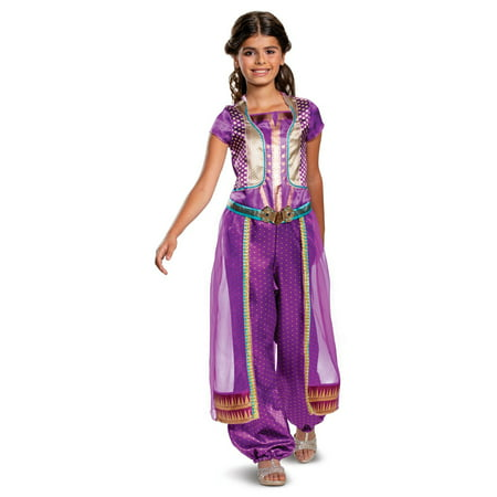 Girl's Jasmine Purple Classic Halloween Costume - Aladdin Live Action