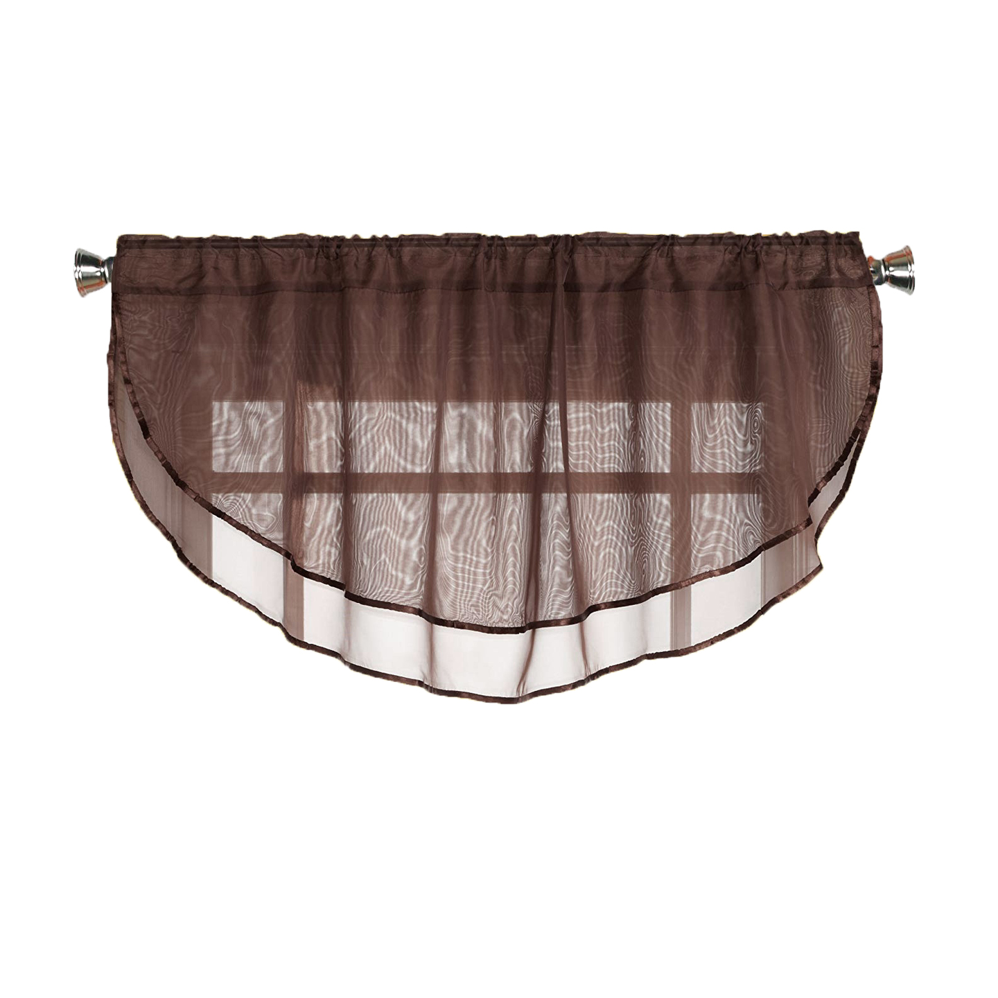 Sheer Voile Valance Curtain for Windows Size 54 in X 24 in ...