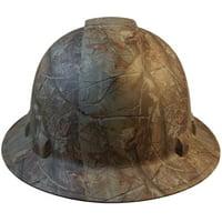 Pyramex Full Brim RIDGELINE Hard Hat Camo Design Pattern with 6 Point Ratchet Suspension