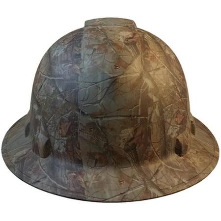 Pyramex Full Brim RIDGELINE Hard Hat Camo Design Pattern with 6 Point Ratchet (Custom Printed Pyramex Hard Hat)