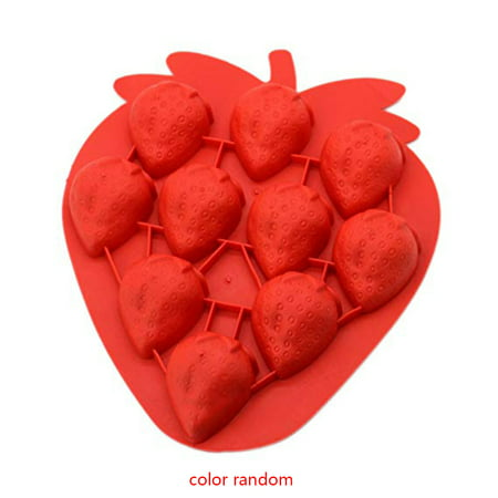 Strawberry Mold - Color Random Silicone Strawberry Ice Cube Tray Tools Chocolate Mould Diy Lovely Freeze Bar