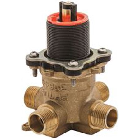 Price Pfister Universal 0X8 Series Tub And Shower Rough Valve, Pressure Balanced Cartridge, Without Stops