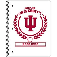 "C.R. Gibson 1-Subject Spiral Notebook, College Ruled, Includes 70 Sheets, Measures 8"" x 10.5"" - Indiana Hoosiers"