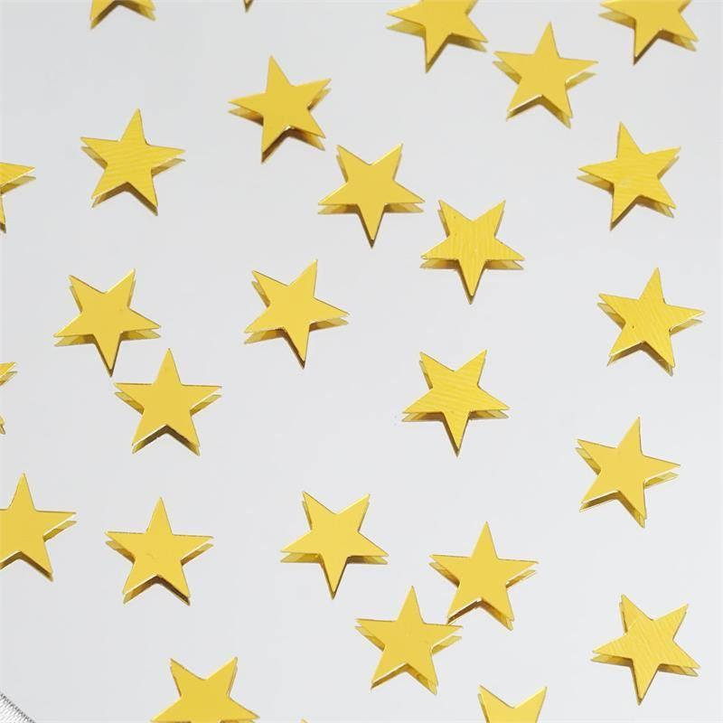 Efavormart Twinkling Metallic Foil Wedding-Party Star Confetti Sprinkles-300 PCS-Gold