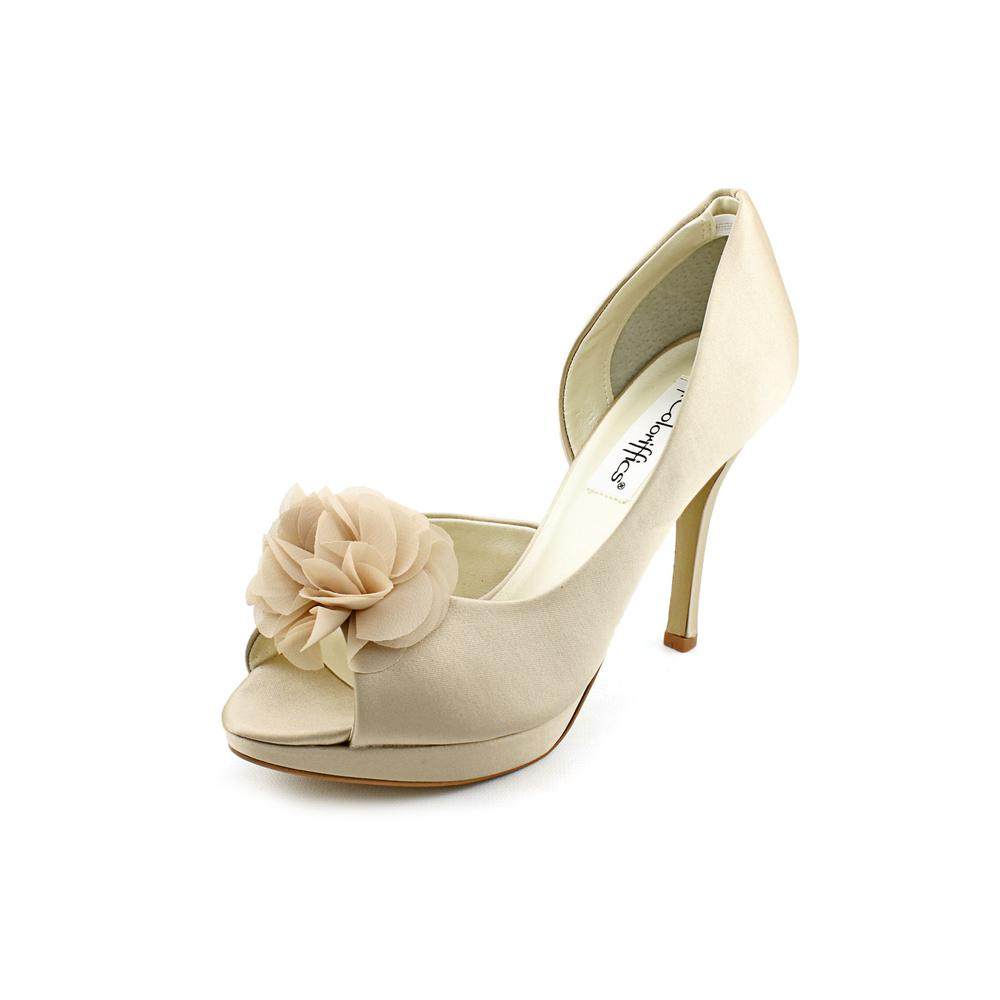Coloriffics Danica Peep-Toe Canvas Heels by Coloriffics