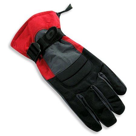 Winter Warm-Up - Little Girls Ski Gloves Red / onesize - Girls Red Gloves