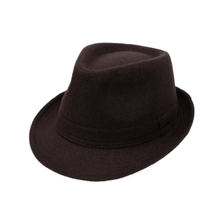 Structured Fedora Hat (Indiana Men's Adult Deluxe Structured Fedora Hat,)