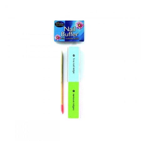 Nail Buffer With Cuticle Stick -