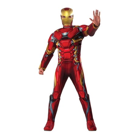 captain america civil war deluxe iron man adult mens costume