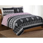 Quilt with Pillow Sham in Multicolor (Full: 86 in. L x 86 in. W (9 lbs.))