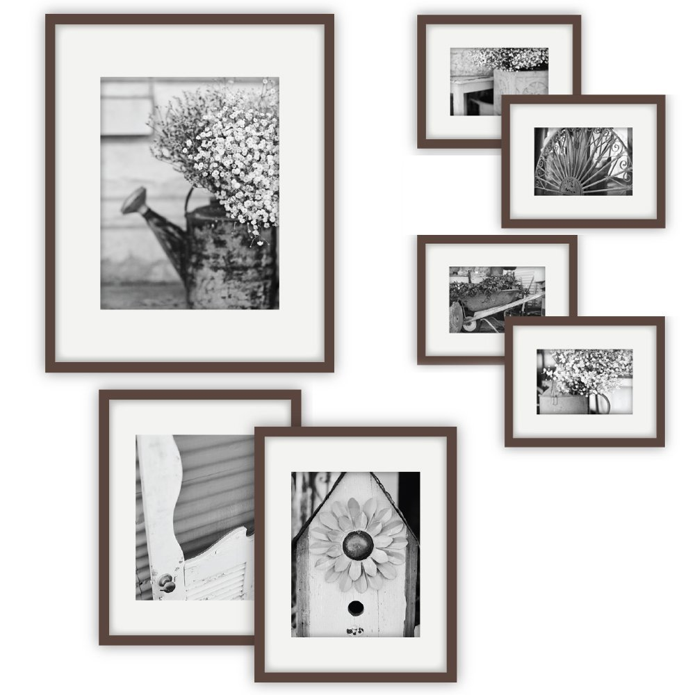 Gallery Perfect 7-Piece Walnut Frame Kit
