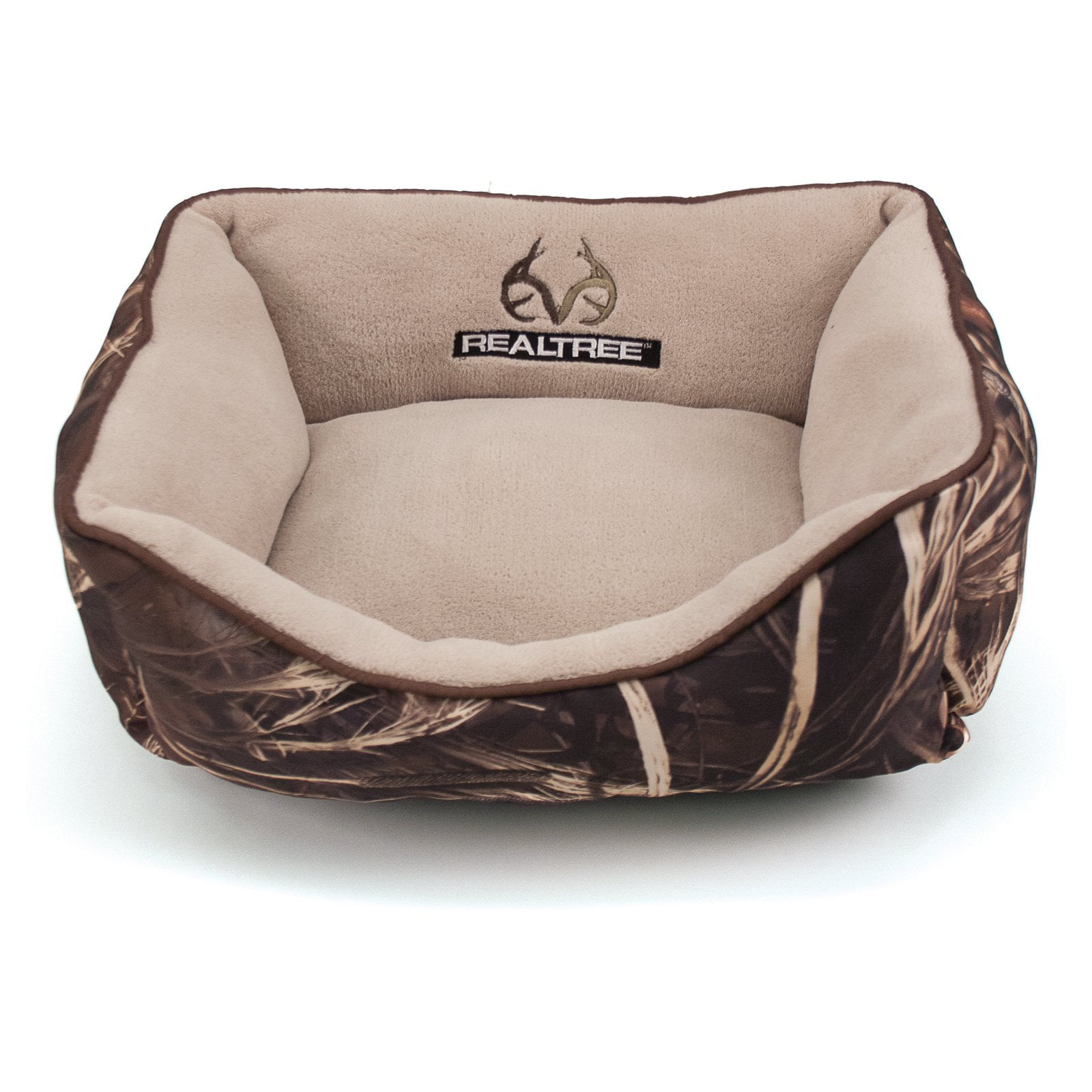 "Realtree Box Pet Bed - 18""x14"" - Camo/Brown"
