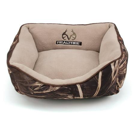 Realtree Box Pet Bed - 18u0022x14u0022 - Camo/Brown