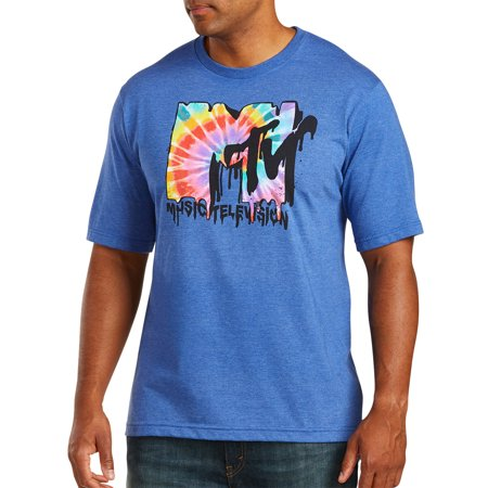 9c636e0ca8d True Nation - Men s Big   Tall MTV Melted Tie-Dye Logo Graphic Tee -  Walmart.com