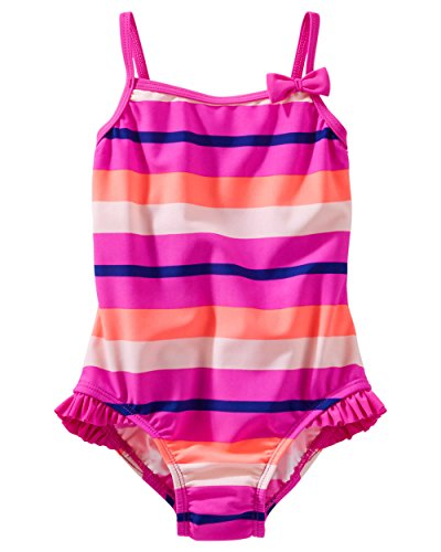 OshKosh B'gosh Little Girls' Striped Swimsuit - Pink - (2-Toddler)
