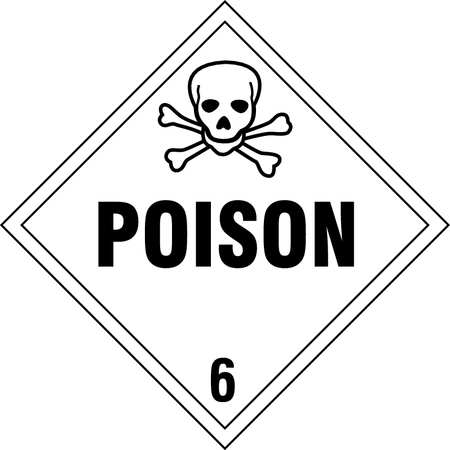 STRANCO INC DOTP-0047-PS Vehicle Placard, Poison with Pictogram