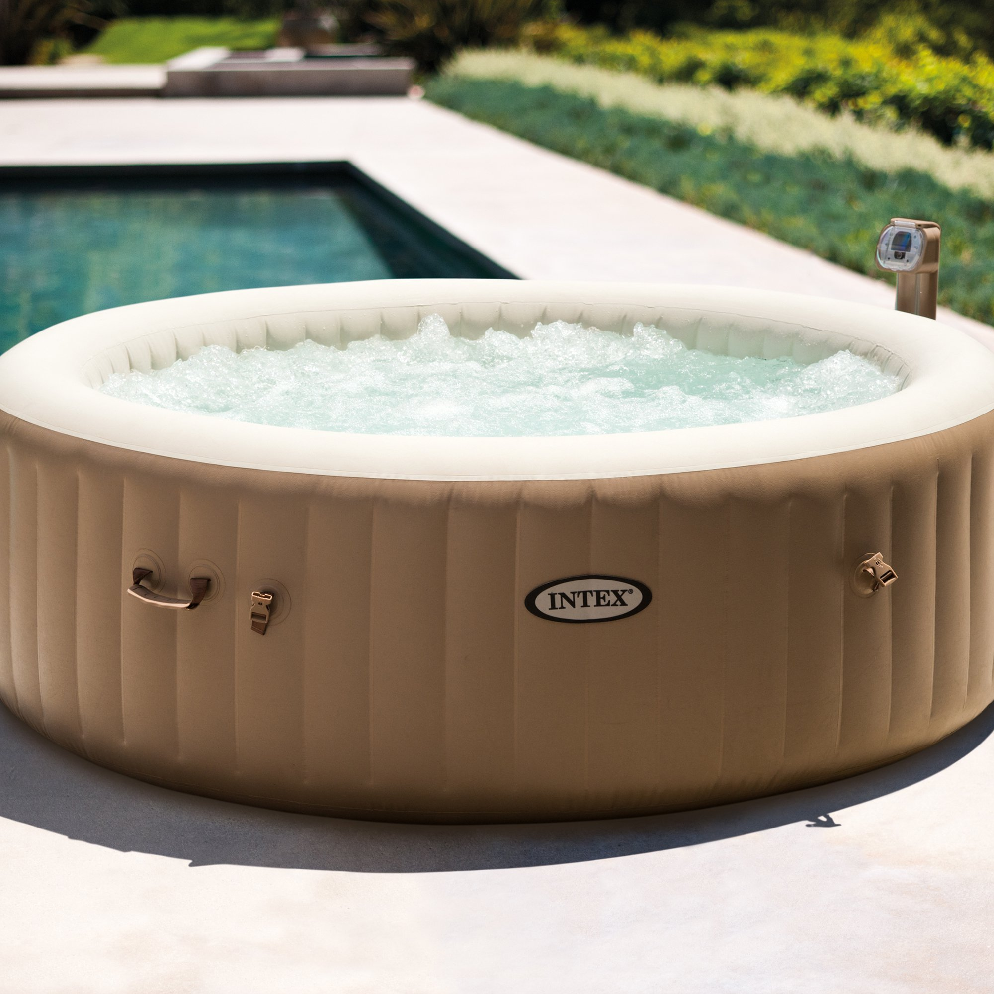Intex Inflatable Pure Spa 6-Person Portable Heated Bubble Jet Hot ...