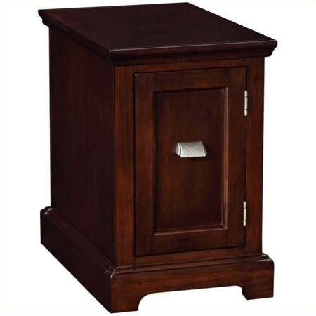 Bowery Hill End Table-Printer Stand in a Chocolate Cherry Finish
