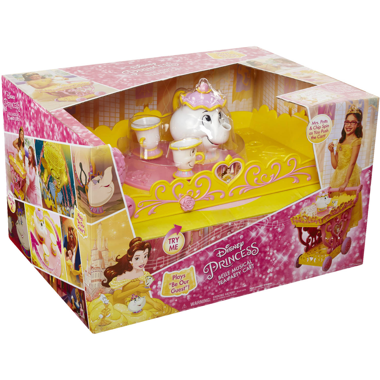 Disney Princess Belle Musical Tea Party Cart Walmart
