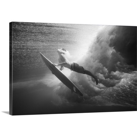 Bali Wave - Great BIG Canvas MakenaStock Media Premium Thick-Wrap Canvas entitled Indonesia, Bali, Surfer Dives Under Wave