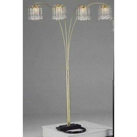 Gold Rain Drop Arc Floor Lamp 91''H by Crown Mark ()