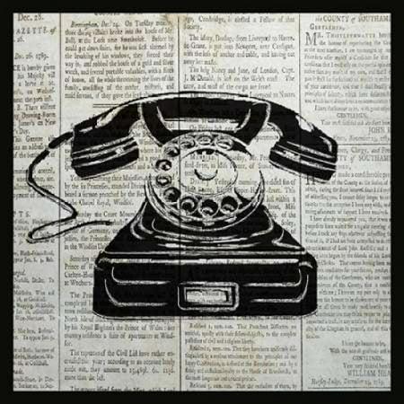 Posterazzi VINTAGE TELEPHONE Canvas Art - Piper Ballantyne (24 x 24)