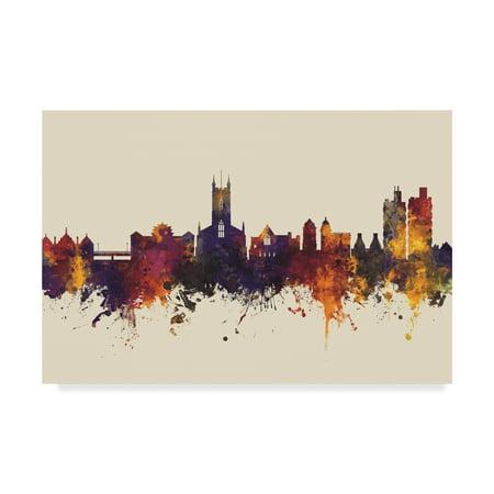 Trademark Fine Art 'Stoke-on-Trent England Skyline III' Canvas Art by Michael (Johnson Brothers Stoke On Trent England Holland)